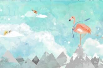 Tapeta flamingi