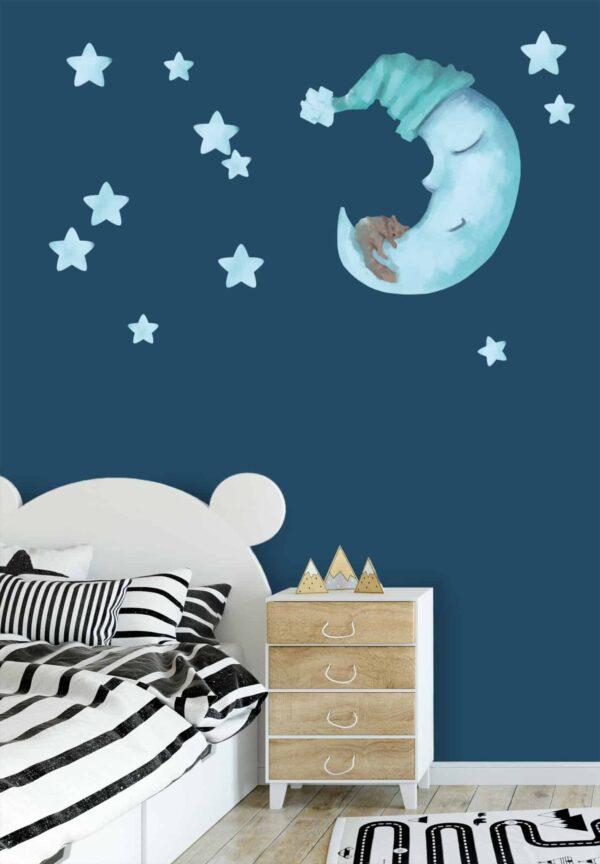 naklejka Śpiący Księżyc