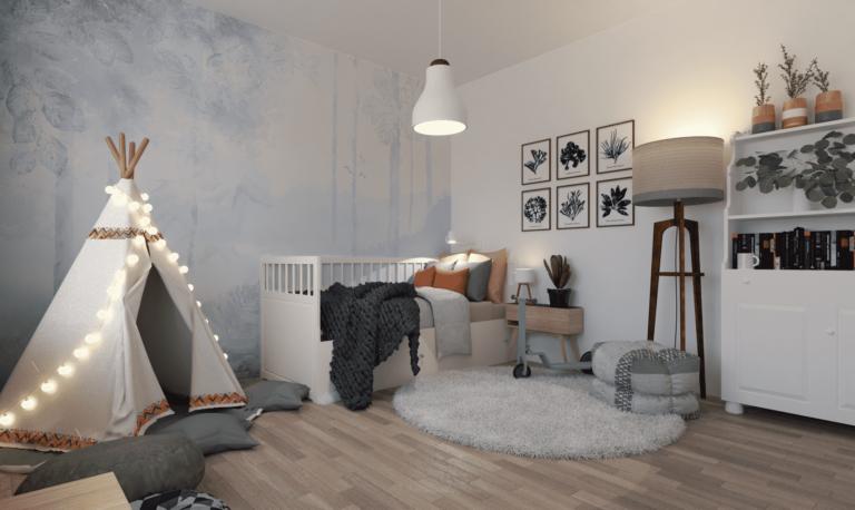pokój dziecka w stylu skandynawskim