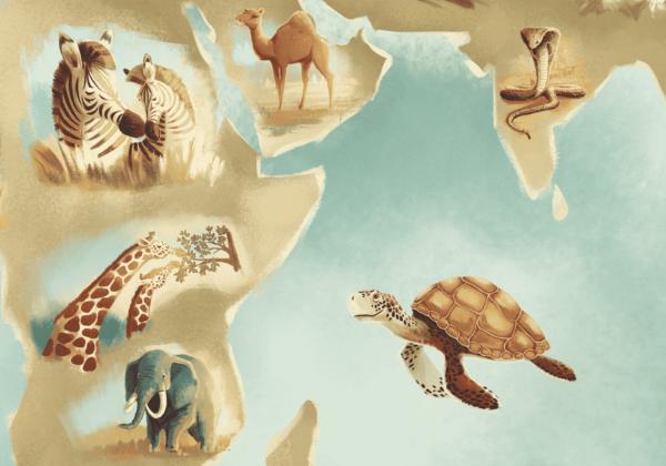 mapa świata - fragment