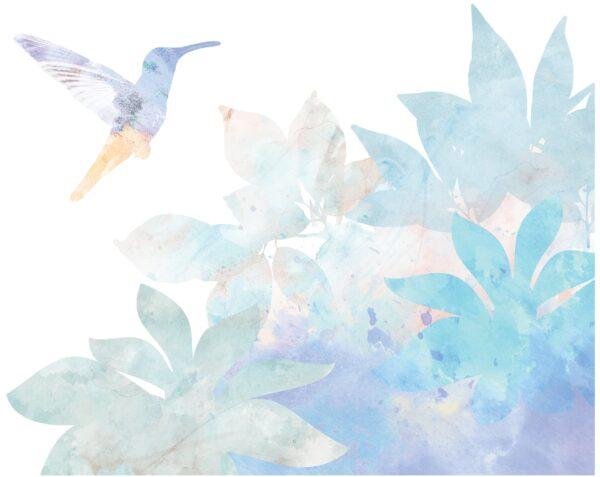 naklejka ścienna z kolibrem